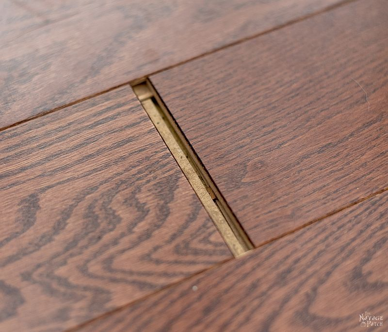 Large End Gap In An Engineered Wood Floor