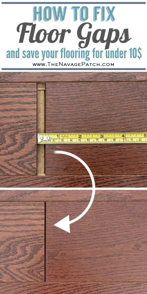 How to fix floating floor gaps pin image