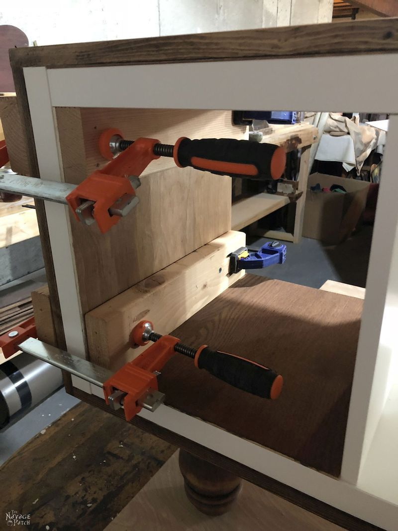 clamps on ikea kallax hack tv stand