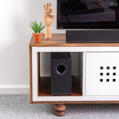 IKEA Kallax Hack TV Stand final picture