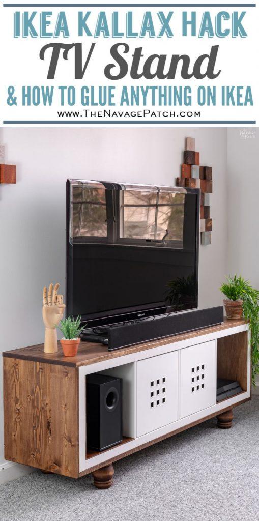 Ikea Kallax Hack TV Stand pin image