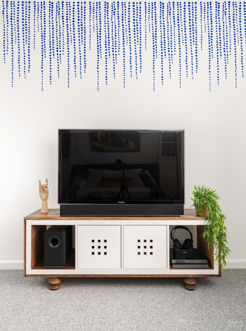 IKEA Kallak Hack TV Stand final picture