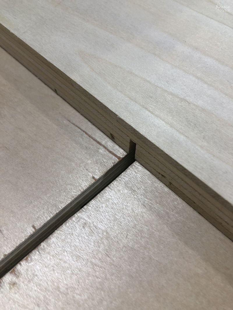 plywood with a channel cut into it