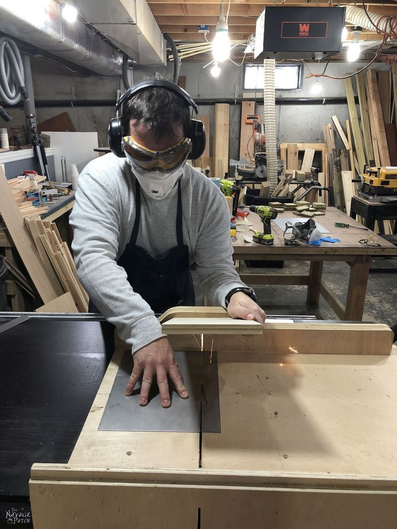 cutting sheet metal on a table saw