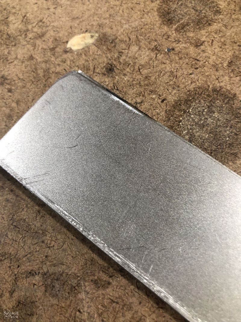piece of sheet metal on a table