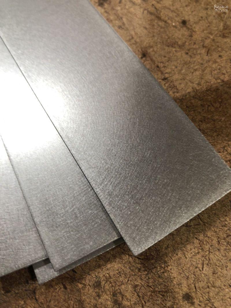 buffed sheet metal