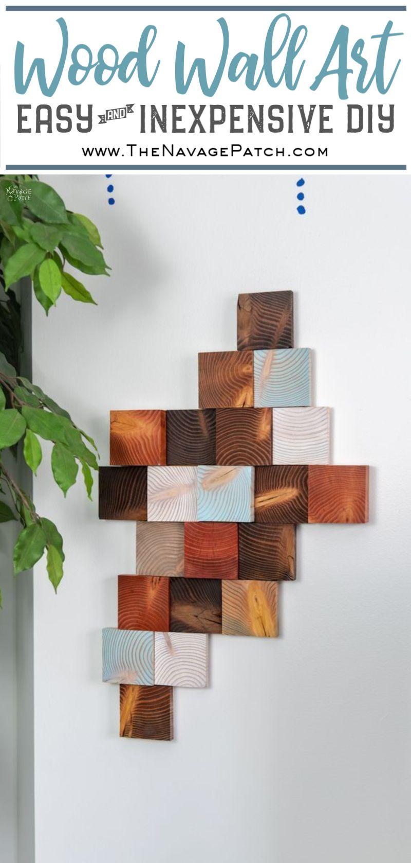 DIY wood wall art pin image