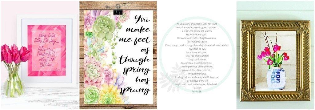 Free Printable Spring Banner blog hop image