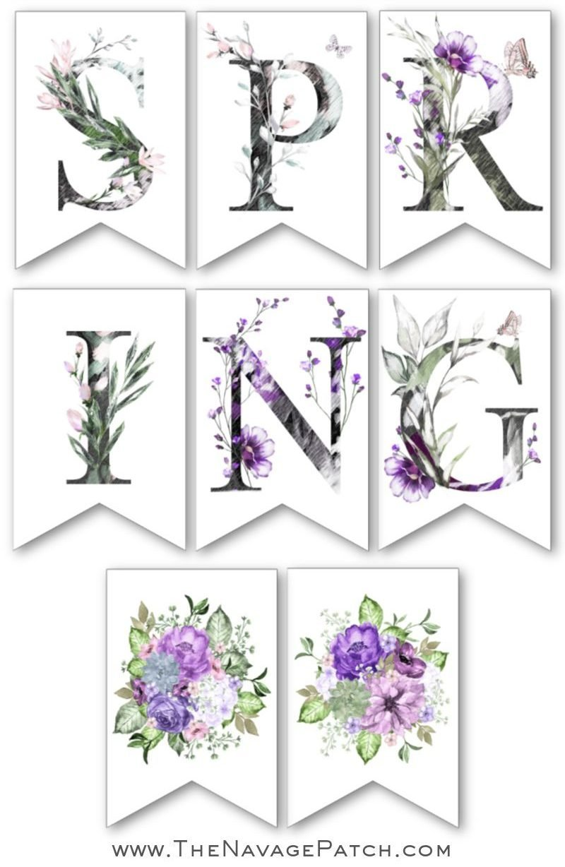 graphic regarding Printable Spring Pictures known as Totally free Printable Spring Banner - The Navage Patch