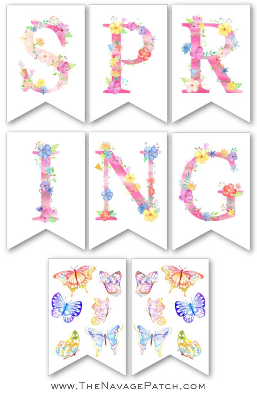 Free Printable Spring Banner Set 1