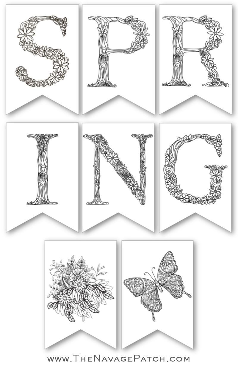 image about Spring Printable referred to as Cost-free Printable Spring Banner - The Navage Patch