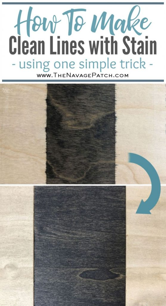 How to Make Clean Lines with Stain pin image