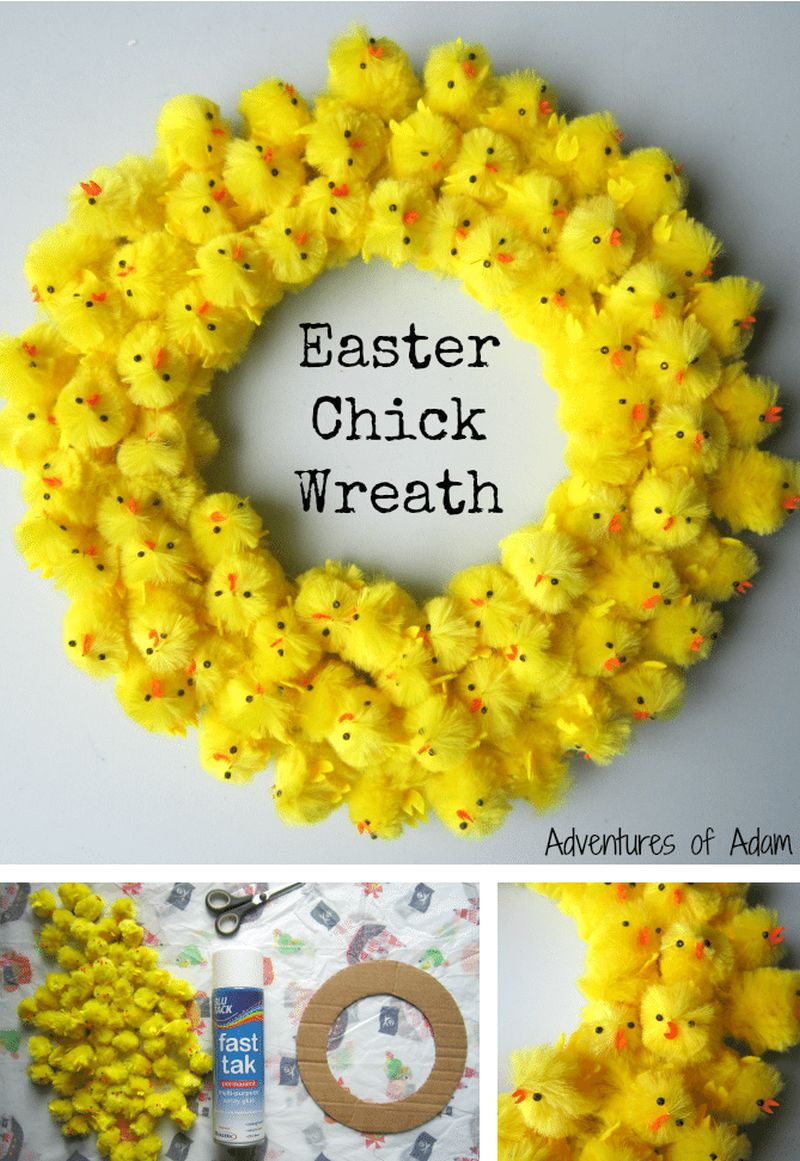 Easter Chick Wreath by Adventures and Play