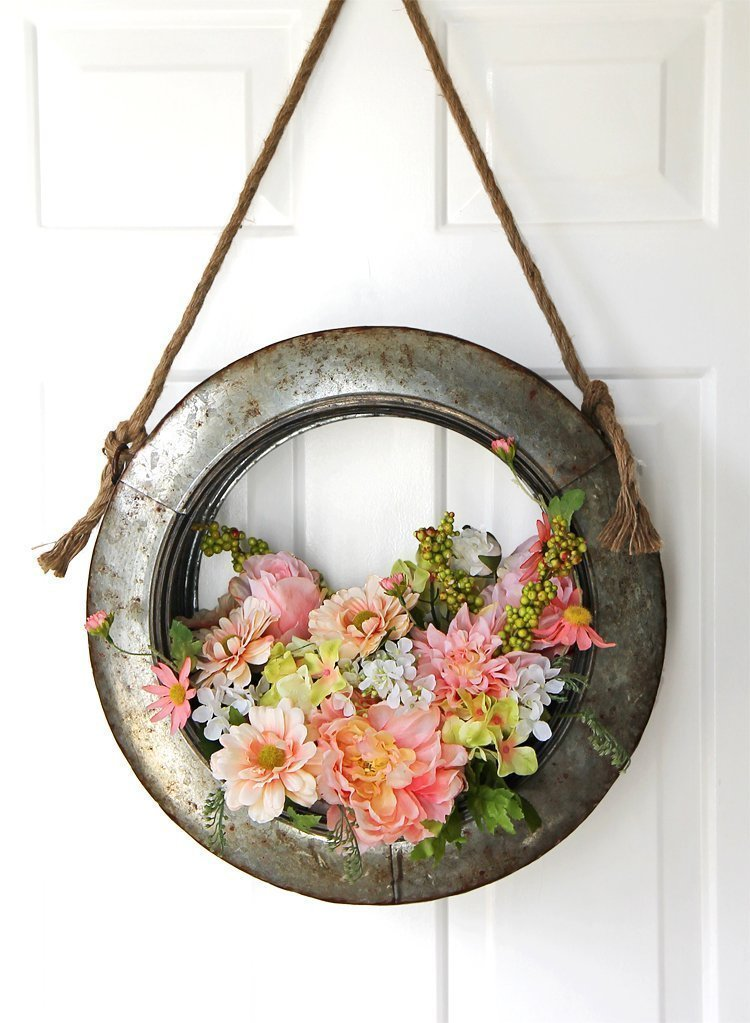 Farmhouse Style DIY Spring Wreath by The Craft Patch