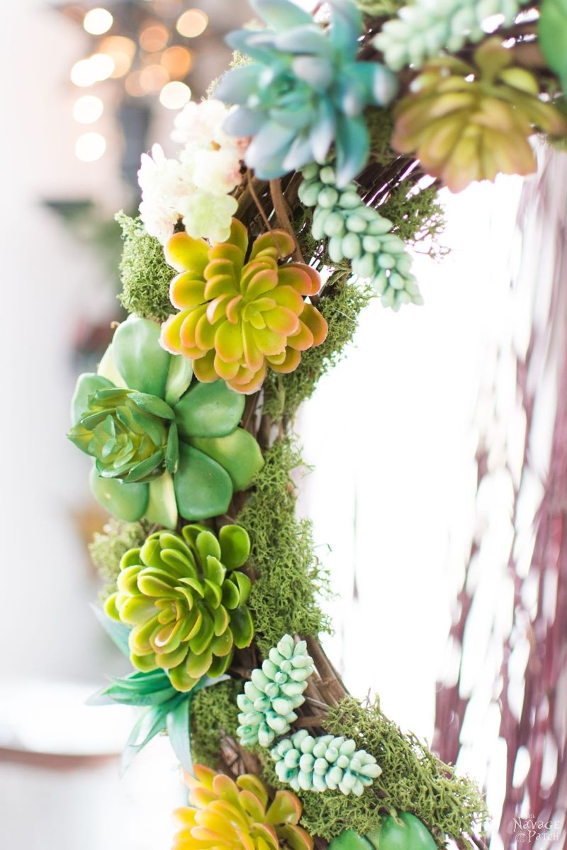 Faux Succulent Wreath by The Navage Patch