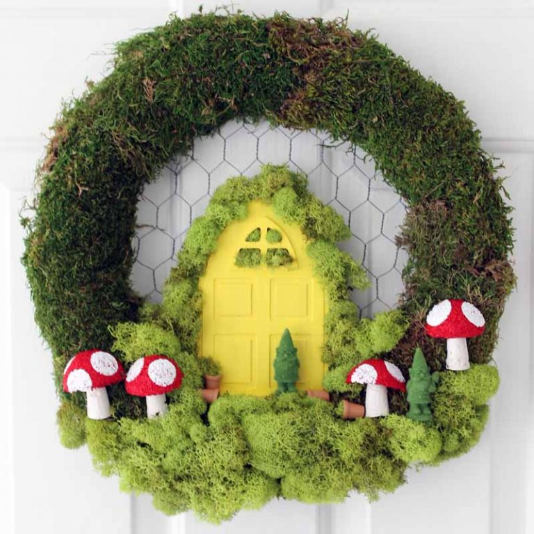 DIY Fairy Garden Wreath by The Country Chic Cottage