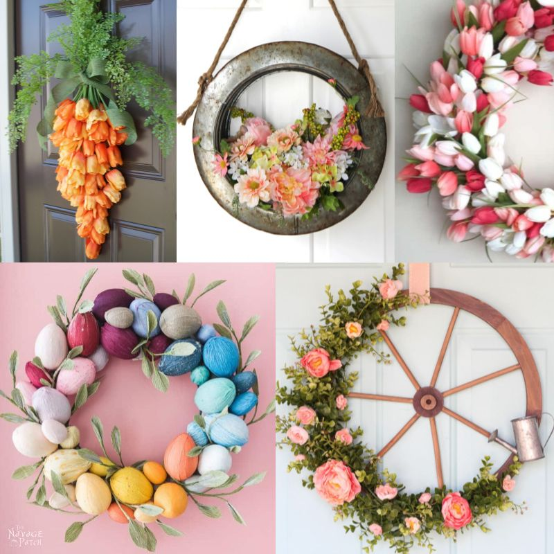 Beautiful Easter and Spring Wreaths featured image