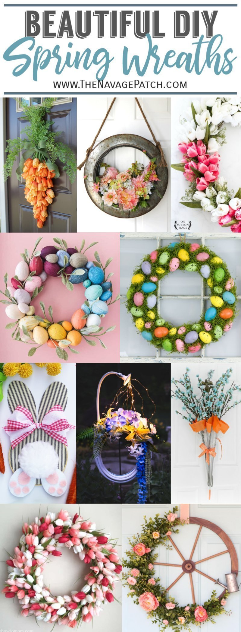 Beautiful Easter and Spring Wreaths pin image