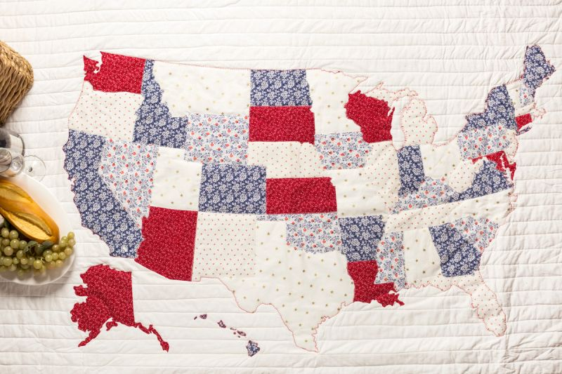 A United States of America Quilt you can make using Cricut Maker