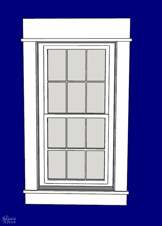 Diy Craftsman Style Trim For Windows