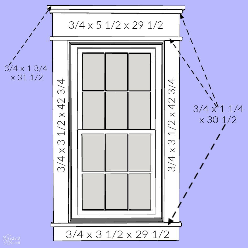 DIY Craftsman Style Trim for Windows and Doors - TheNavagePatch.com