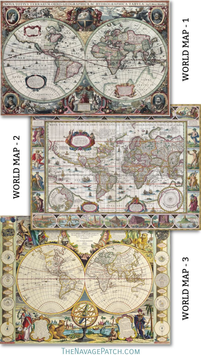 picture regarding Free Printable Vintage Images named Wood Map Wall Artwork Cost-free Printable Classic Maps - The