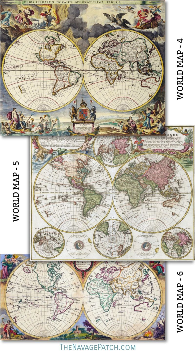 photo regarding Printable Vintage Maps named Wood Map Wall Artwork Absolutely free Printable Basic Maps - The