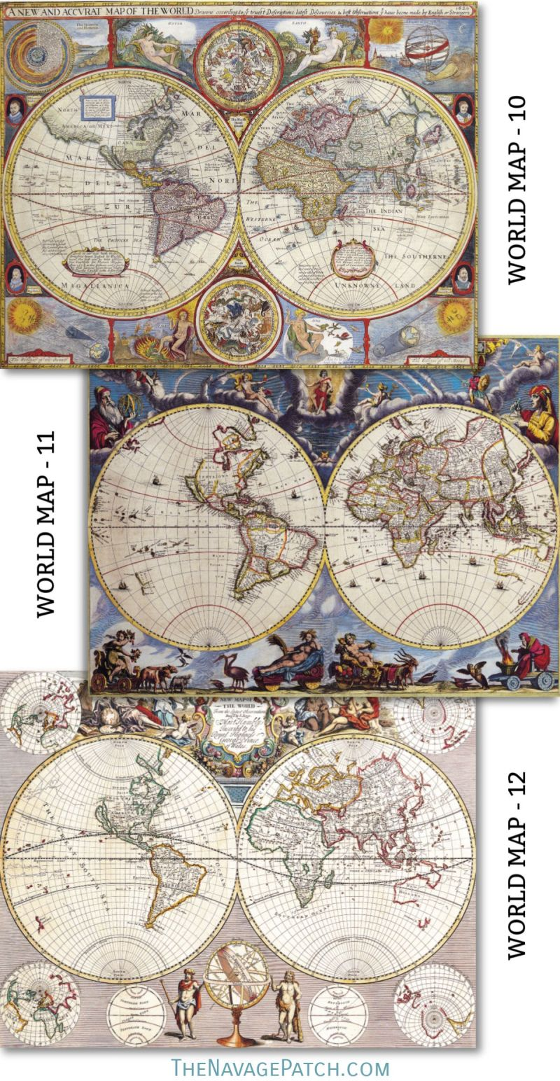 graphic regarding Printable Vintage Maps named Picket Map Wall Artwork Cost-free Printable Basic Maps - The