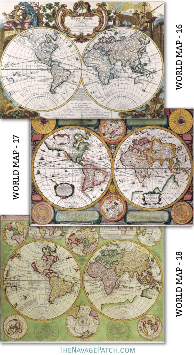 image relating to Printable Vintage Maps identified as Wood Map Wall Artwork Totally free Printable Common Maps - The