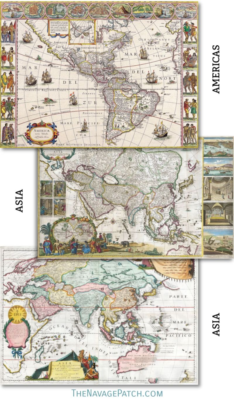 picture about Printable Vintage Maps titled Wood Map Wall Artwork Totally free Printable Classic Maps - The