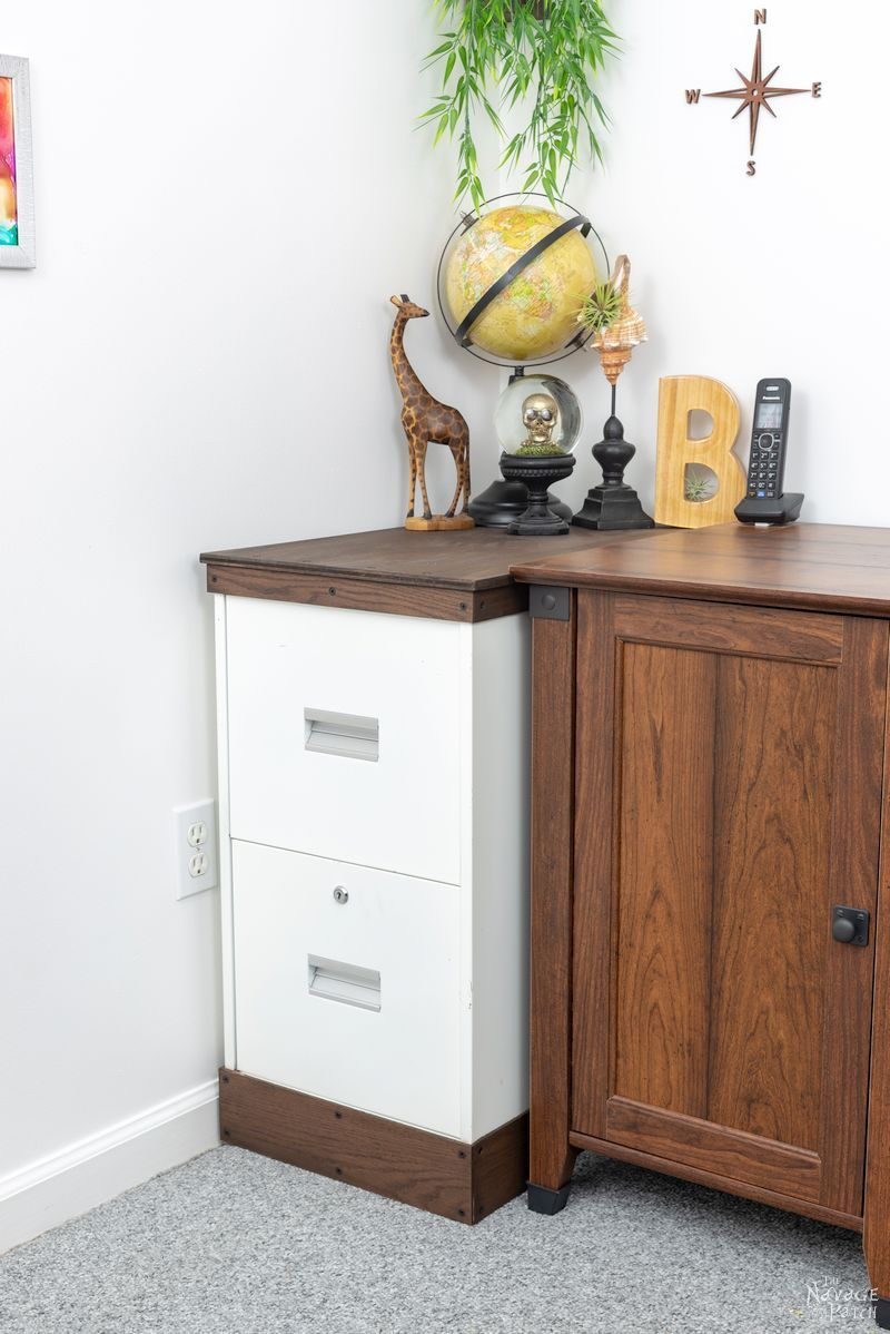 metal filing cabinet makeover