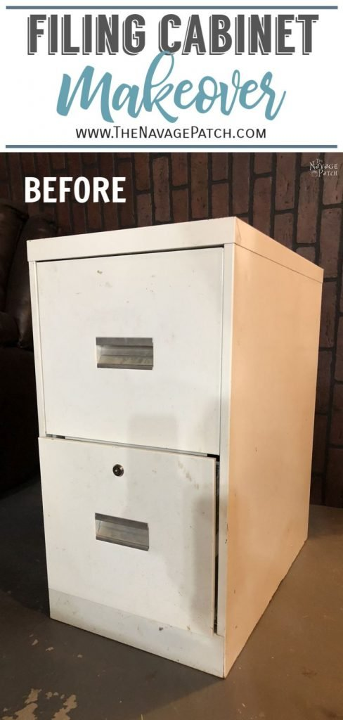 metal filing cabinet makeover pin image