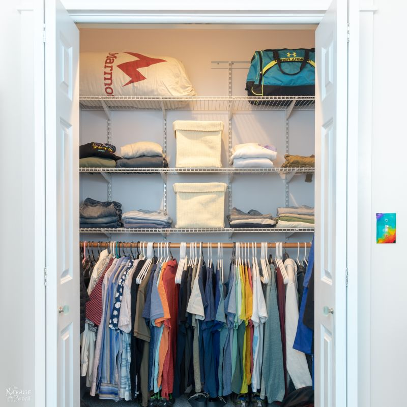 small closet makeover | TheNavagePatch.com