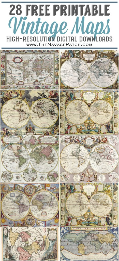 picture relating to Printable Vintage Maps referred to as Wood Map Wall Artwork Free of charge Printable Typical Maps - The