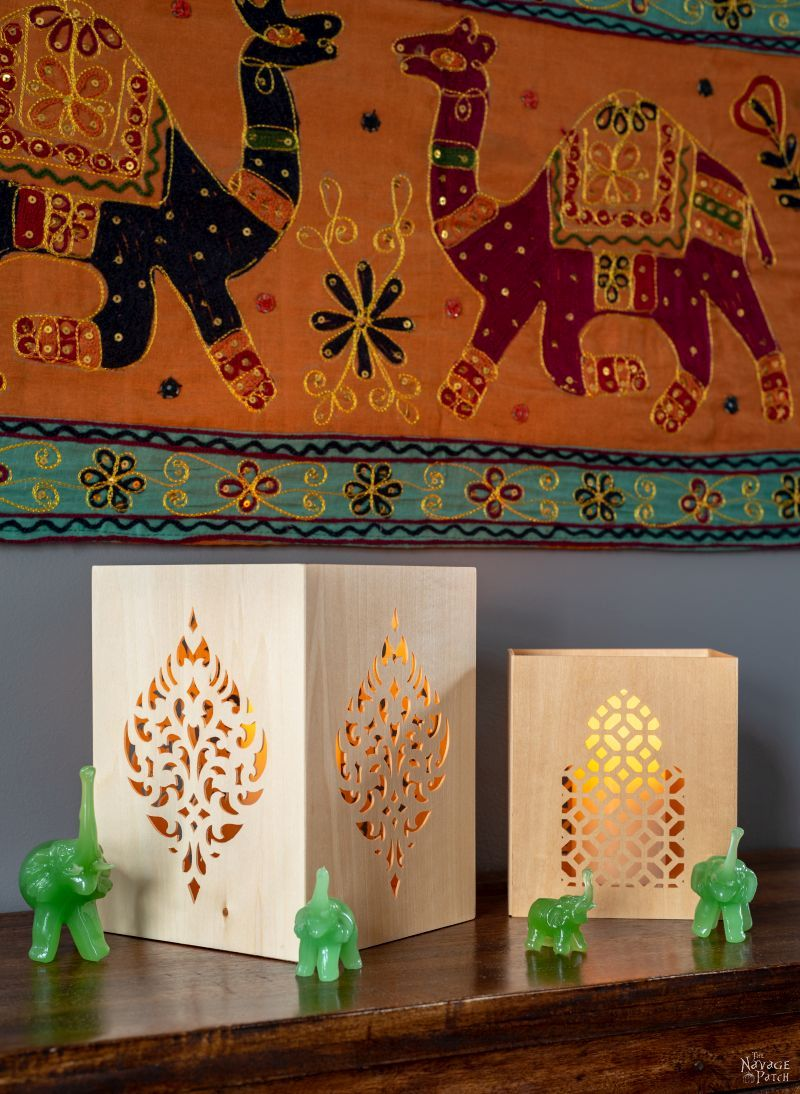 DIY Moroccan Candle Holders | TheNavagePatch.com