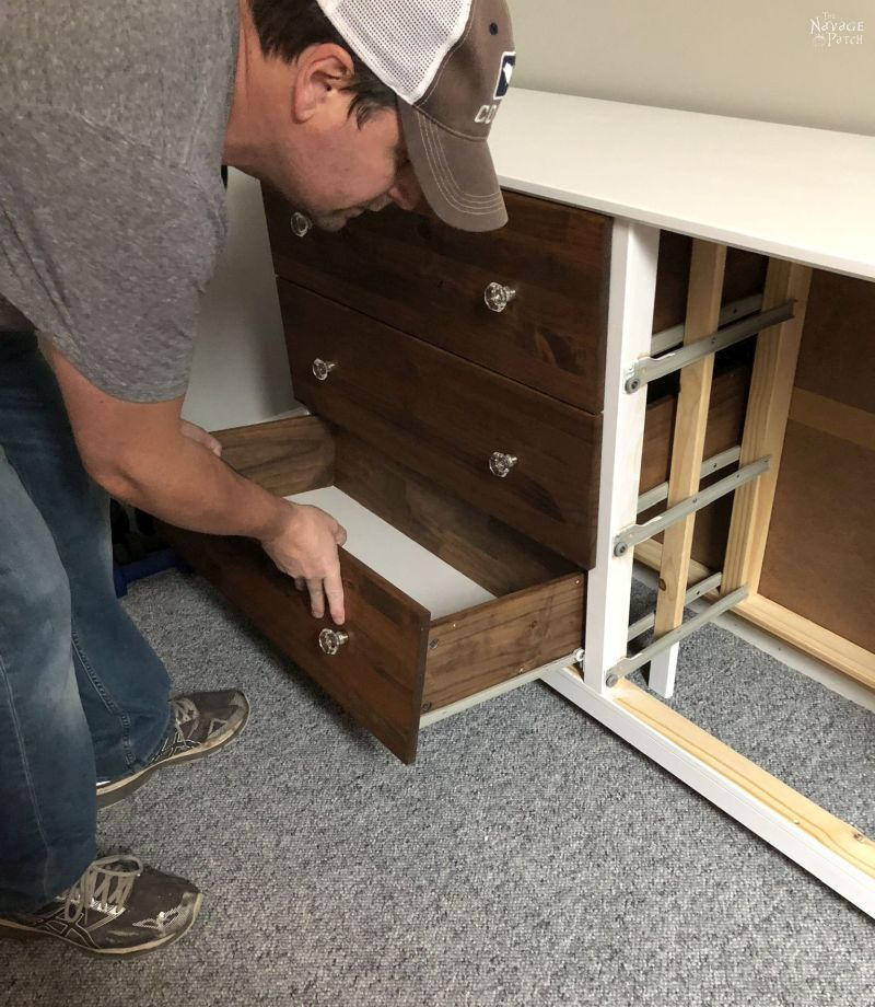 putting drawers in an ikea tarva hack
