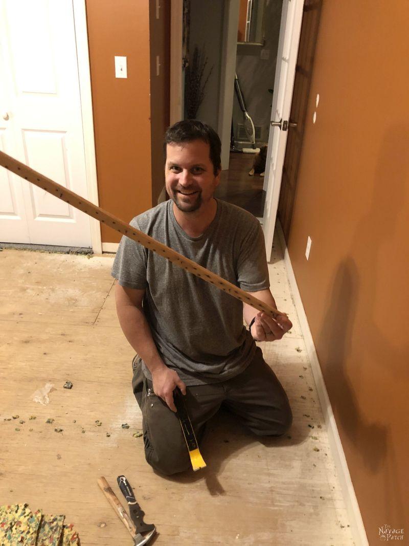 removed carpet tack strip