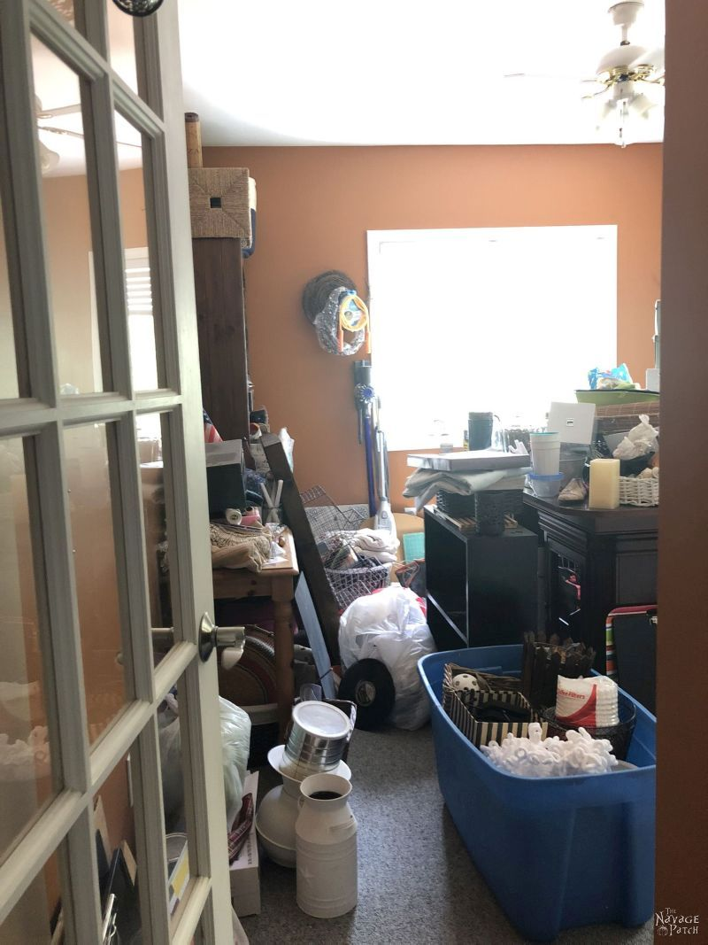 entrance to a very messy craft room