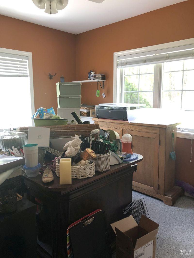messy craft room