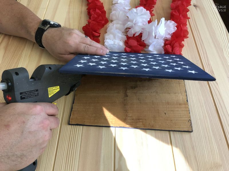 gluing two blue boards together