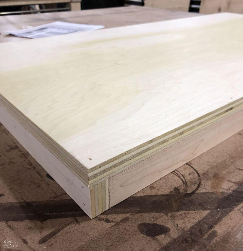 making a hamper base from plywood