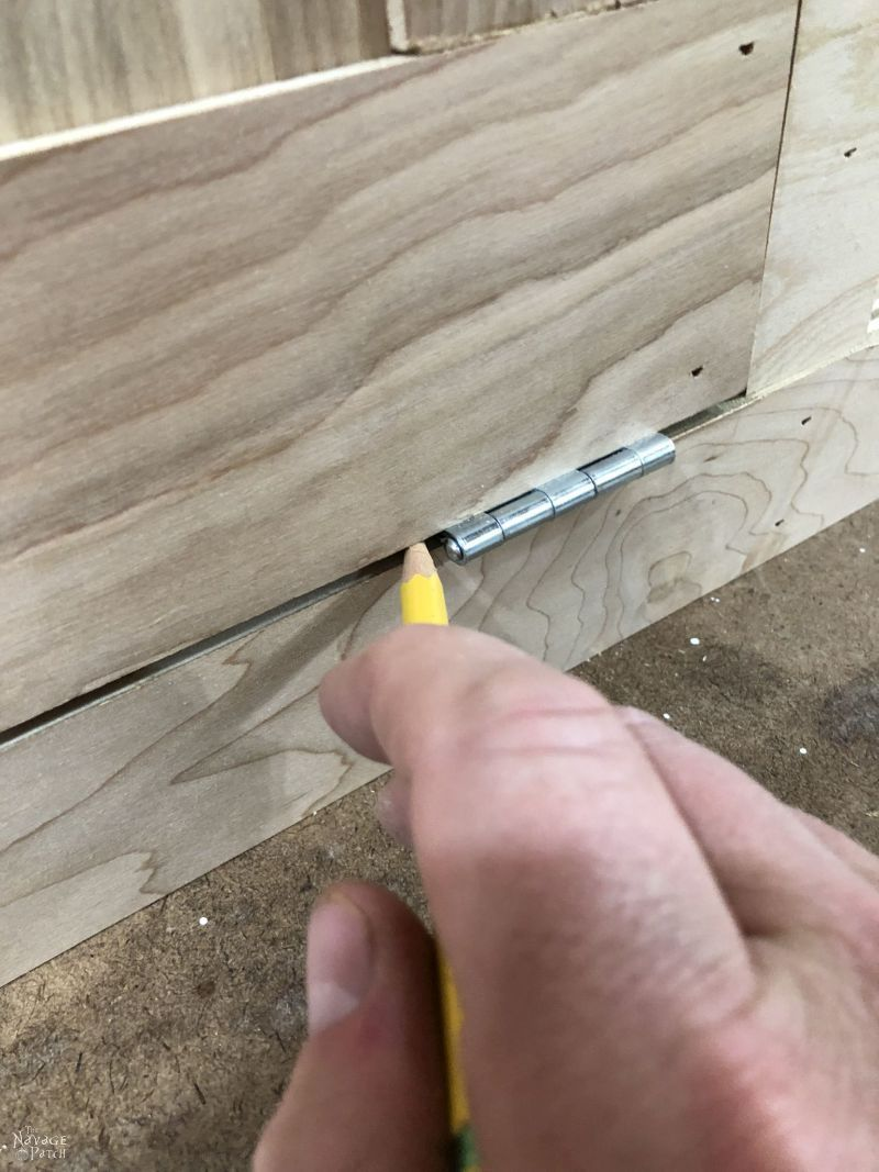 marking where a hinge will be installed