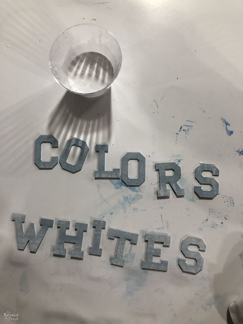 whitewashing wood letters