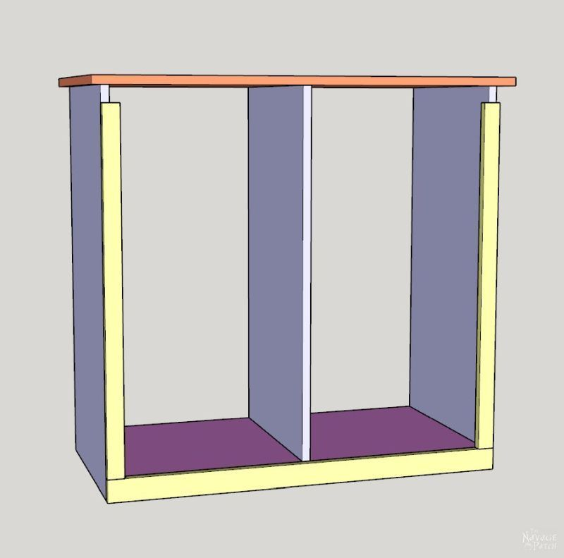 diy tilt out laundry hamper step-by-step instruction drawings