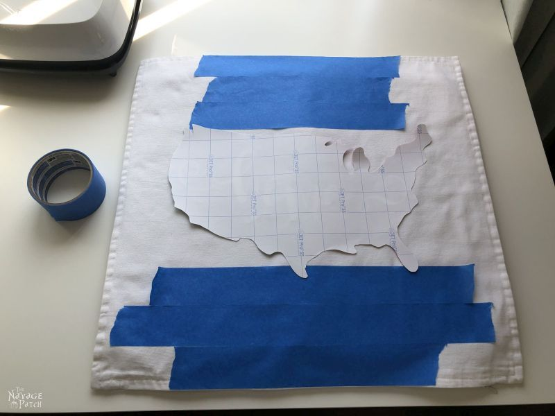 aligning a heat transfer design on a pillow cover