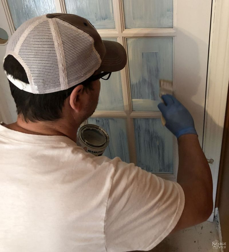 prepping a french door for paint