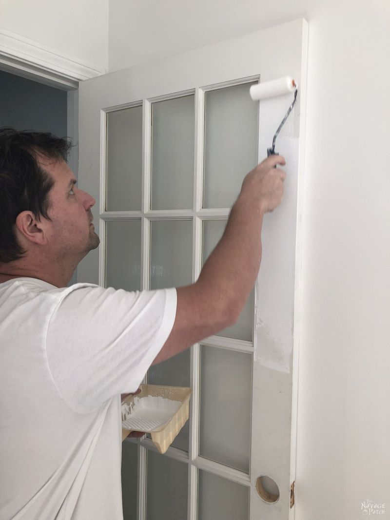 painting a french door