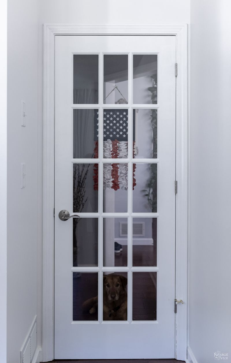How to Paint French Doors the Easy Way   TheNavagePatch.com