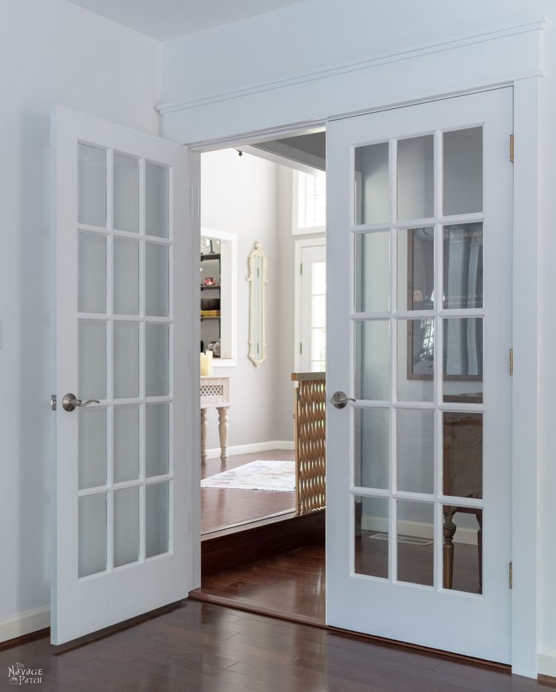 How to Paint French Doors the Easy Way | TheNavagePatch.com