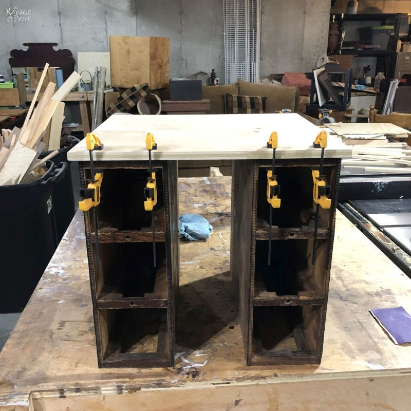 building a storage cart from antique sewing machine drawers